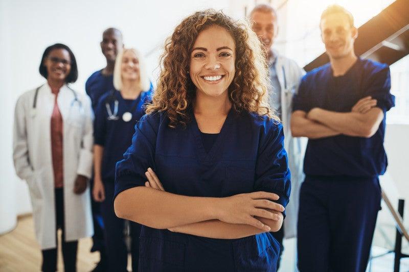 Doctors posing
