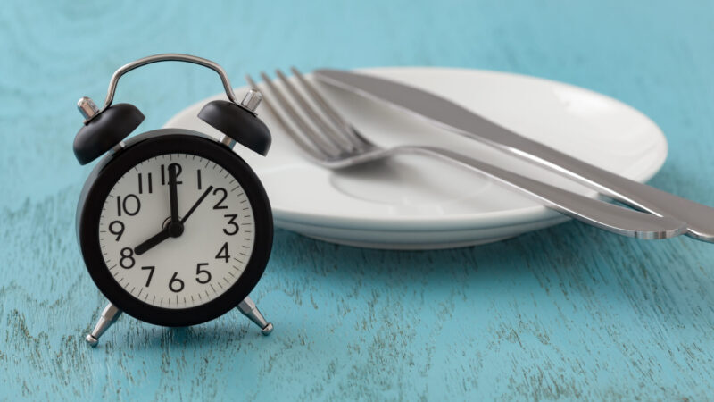 Time and fasting concept image