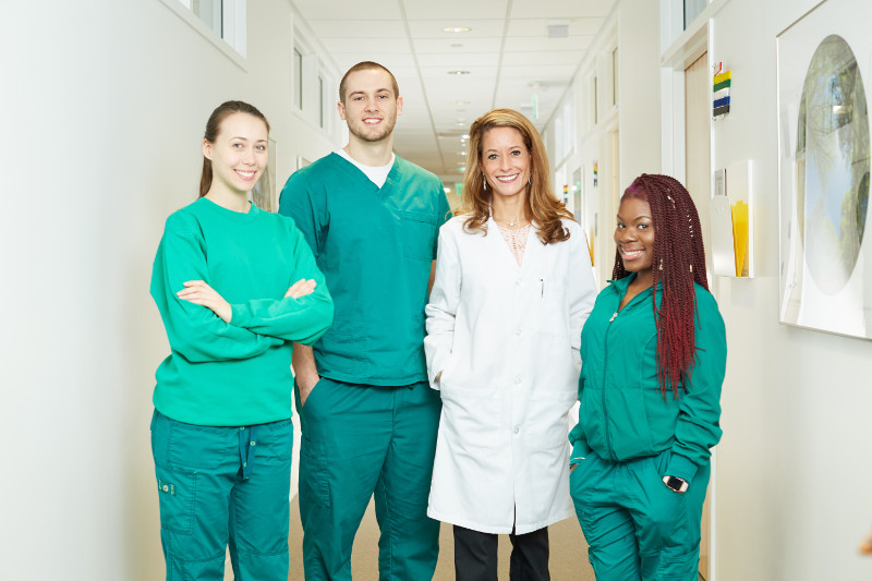 MD and health coaches in clinical setting
