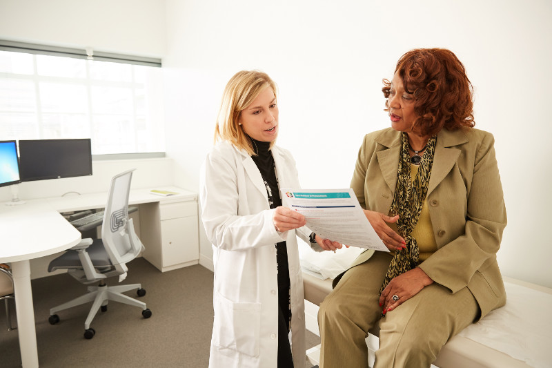 Doctor treating patient for IBS